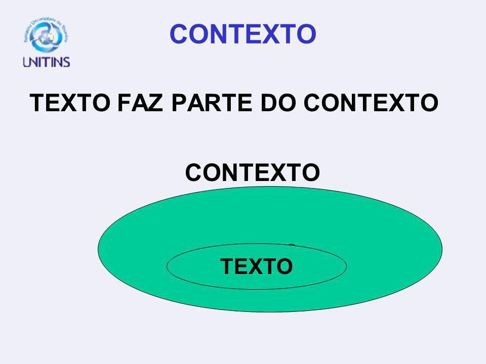 CONTEXTO TEXTO FAZ PARTE DO CONTEXTO CONTEXTO TEXTO