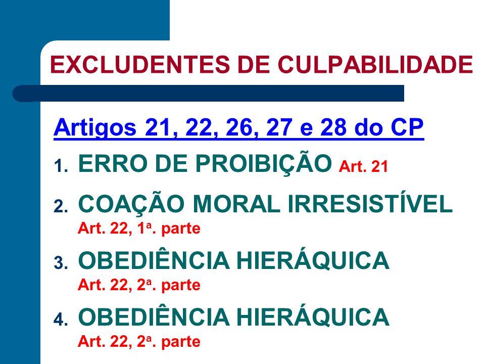 CAUSAS EXCLUDENTES - EXCESSOS