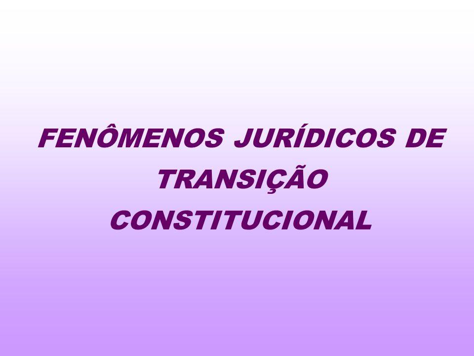 FENÔMENOS JURÍDICOS DE TRANSIÇÃO CONSTITUCIONAL