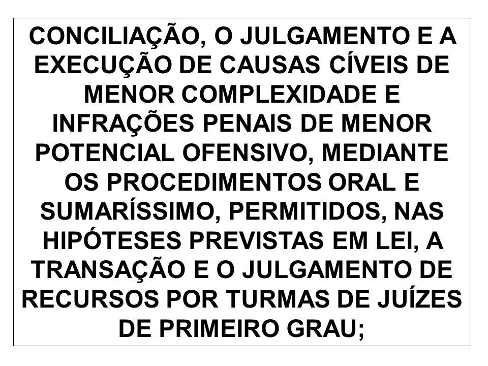 § 1º LEI FEDERAL DISPORÁ SOBRE A CRIAÇÃO DE JUIZADOS ESPECIAIS NO ÂMBITO DA JUSTIÇA FEDERAL.