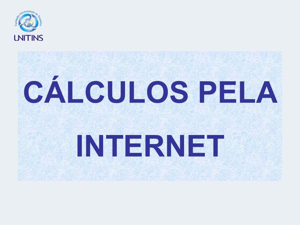 CÁLCULOS PELA INTERNET