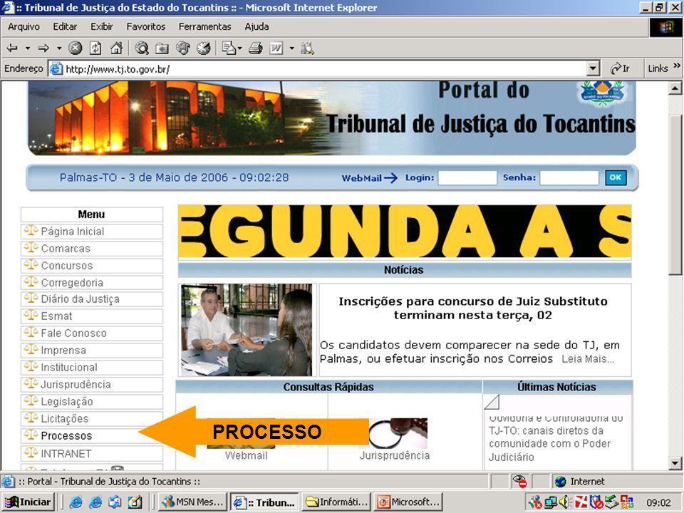 SITE DO TJ/TO PROCESSO