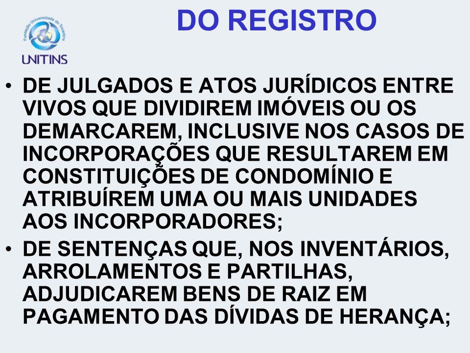 DO REGISTRO DE CONTRATOS DE PROMESSA DE COMPRA E VENDA, CESSÃO E PROMESSA DE CESSÃO DE TERRENOS LOTEADOS OU DESMEMBRADOS NA FORMA DO DECRETO-LEI Nº 58