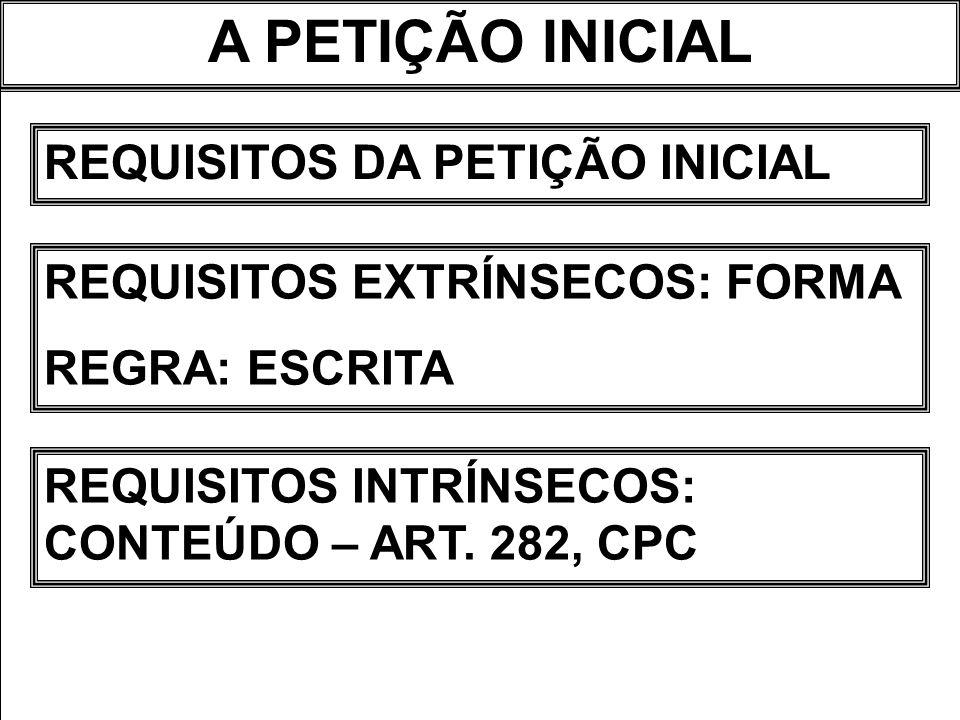 A PETIÇÃO INICIAL REQUISITOS INTRÍNSECOS ART.282.