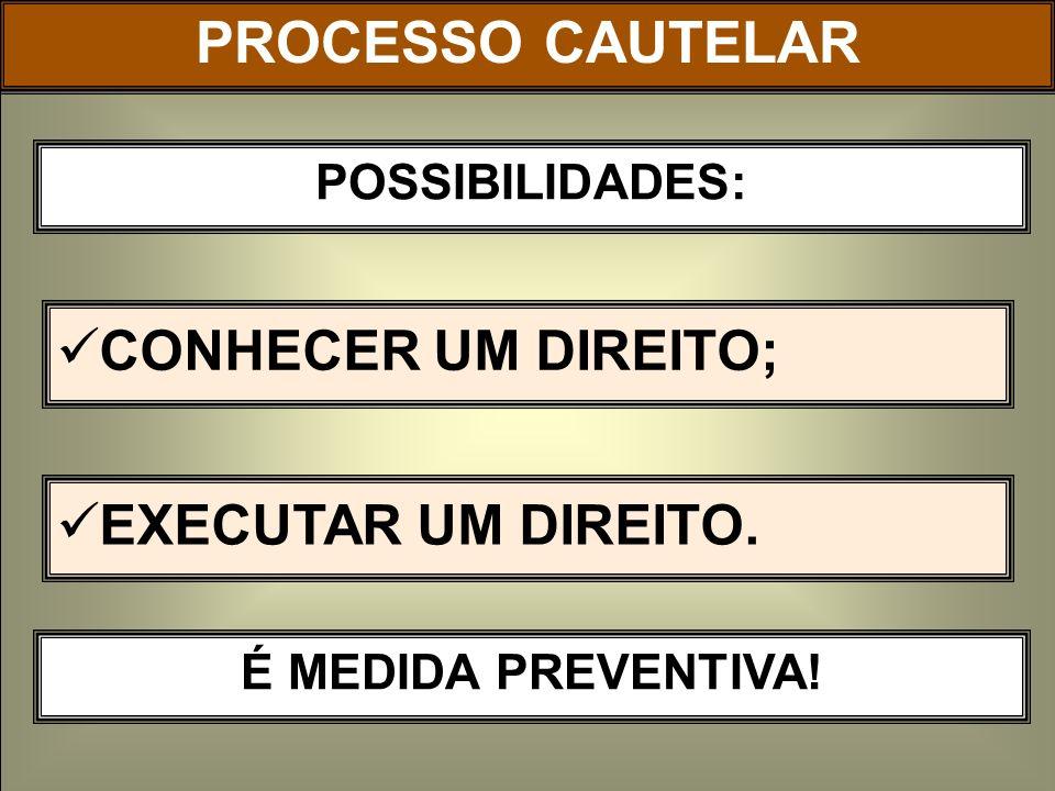 NATUREZA JURÍDICA: PROCESSO CAUTELAR NATUREZA ACAUTELATÓRIA.