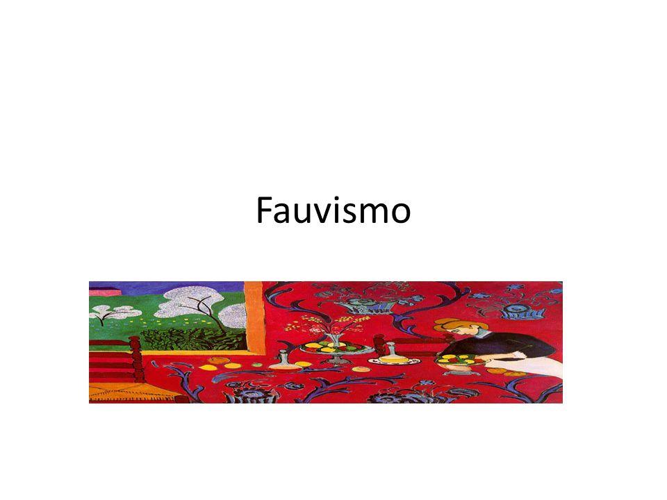 FAUVISMO Em 1905, em Paris, no Salão de Outono, alguns artistas foram chamados de fauves (em português significa feras), em virtude da intensidade com que usavam as cores puras, sem misturá-las ou matizá-las.