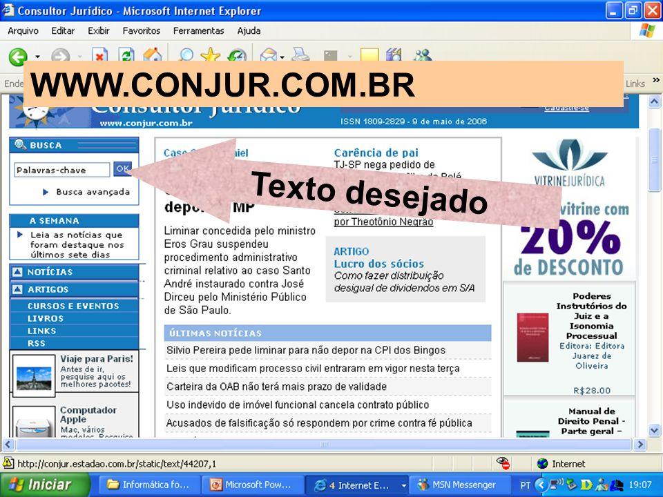 Texto desejado WWW.CONJUR.COM.BR