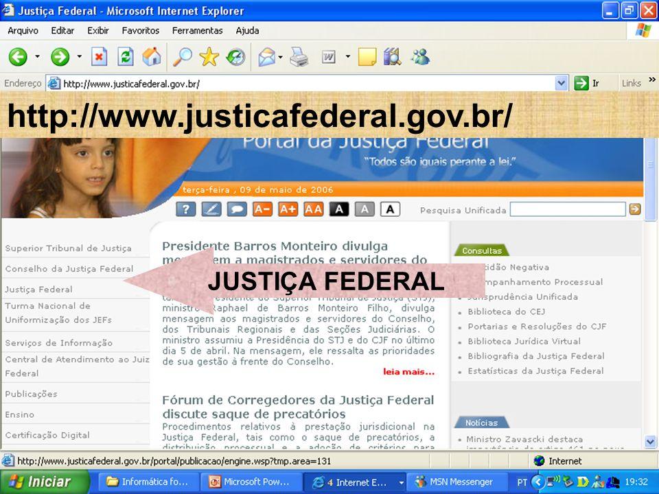JUSTIÇA FEDERAL http://www.justicafederal.gov.br/