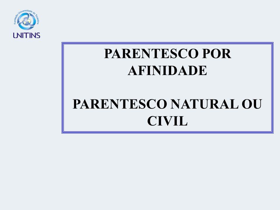 PARENTESCO POR AFINIDADE PARENTESCO NATURAL OU CIVIL