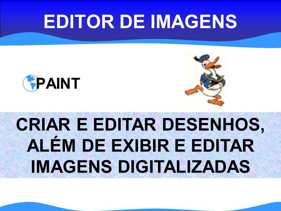 EDITOR DE IMAGENS PAINT CRIAR E EDITAR DESENHOS, ALÉM DE EXIBIR E EDITAR IMAGENS DIGITALIZADAS