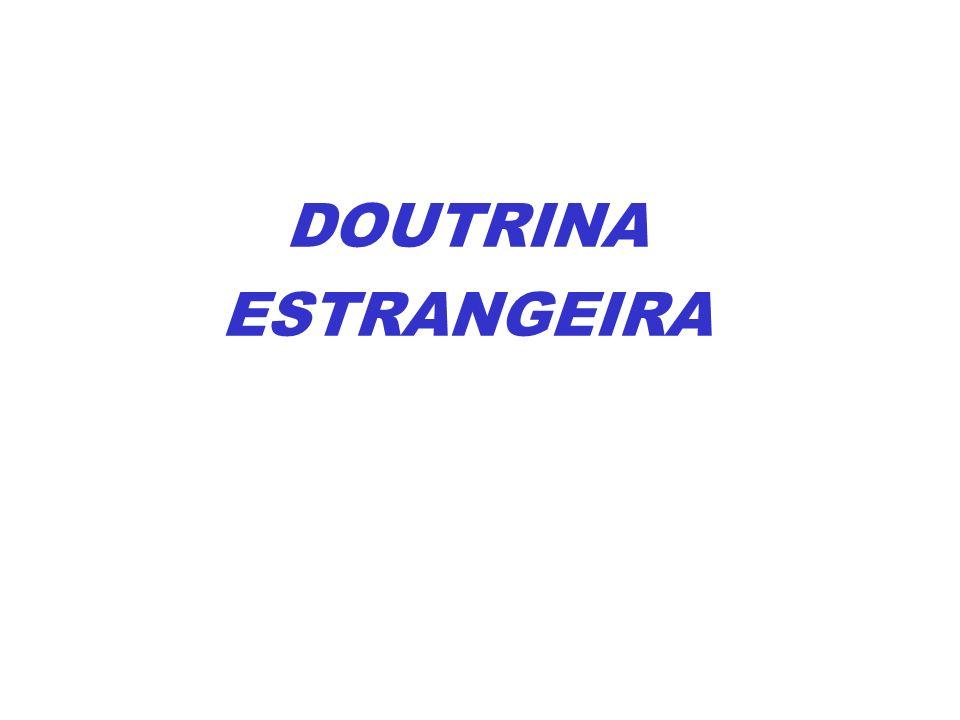 DOUTRINA ESTRANGEIRA