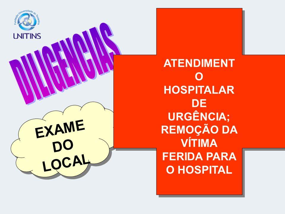 EXAME DO LOCAL ATENDIMENT O HOSPITALAR DE URGÊNCIA; REMOÇÃO DA VÍTIMA FERIDA PARA O HOSPITAL ATENDIMENT O HOSPITALAR DE URGÊNCIA; REMOÇÃO DA VÍTIMA FE