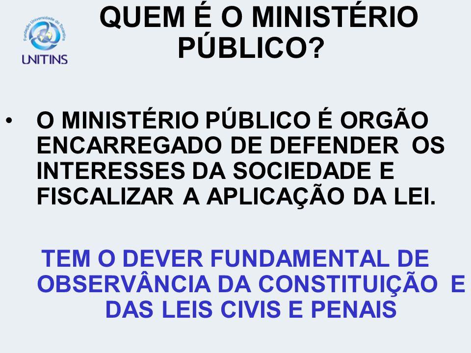INTERVENÇÃO DO MINISTERIO PUBLICO COMO FISCAL DA LEI (ART.