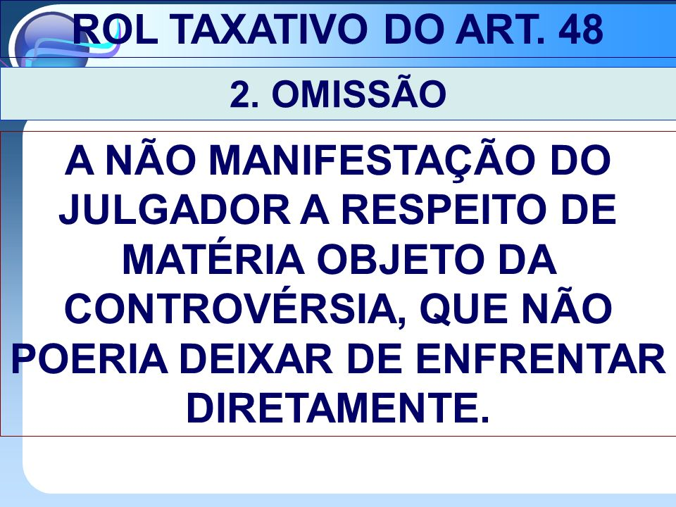 ROL TAXATIVO DO ART.48 2.