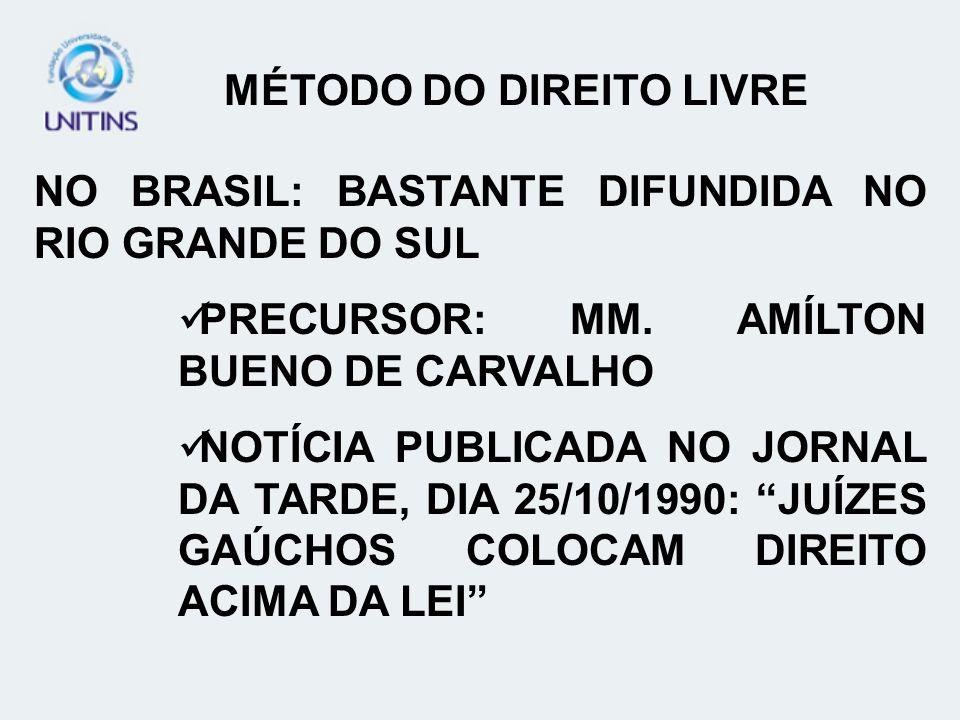 NO BRASIL: BASTANTE DIFUNDIDA NO RIO GRANDE DO SUL PRECURSOR: MM.
