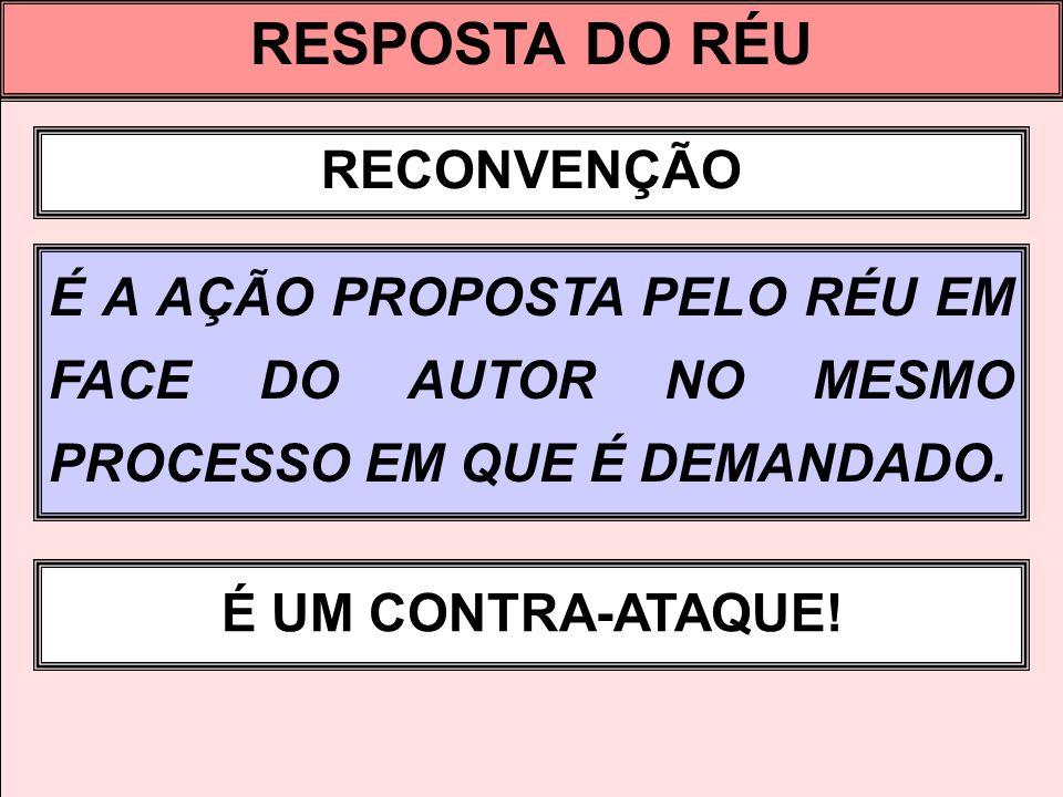 RESPOSTA DO RÉU RECONVENÇÃO AUTOR ALEGA X, PEDE Y RÉU ALEGA A, PEDE B X A Y B