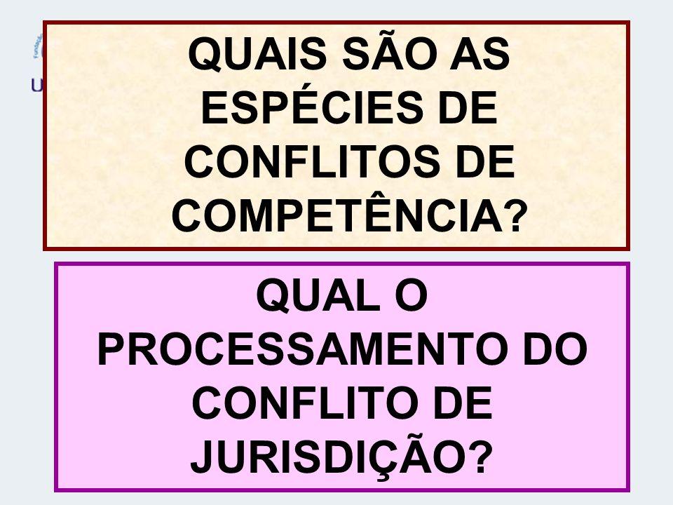 QUAIS SÃO AS ESPÉCIES DE CONFLITOS DE COMPETÊNCIA? QUAL O PROCESSAMENTO DO CONFLITO DE JURISDIÇÃO?