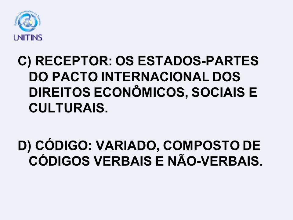 RESPOSTA CERTA: B A)EMISSOR: O DIRETOR DA REVISTA CONSULEX. B) MENSAGEM: A ÁGUA É UM DIREITO DE TODOS, POR ISSO É PREOCUPAÇÃO DE ENTIDADES INTERNACION