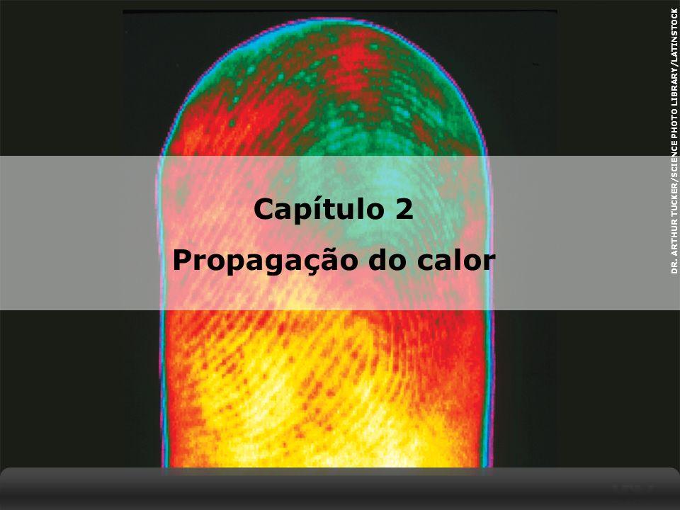X SAIR Propagação do calor O calor se propaga espontaneamente de um corpo de maior temperatura para outro, de menor temperatura.