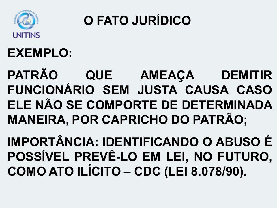 EXEMPLO: PATRÃO QUE AMEAÇA DEMITIR FUNCIONÁRIO SEM JUSTA CAUSA CASO ELE NÃO SE COMPORTE DE DETERMINADA MANEIRA, POR CAPRICHO DO PATRÃO; IMPORTÂNCIA: I