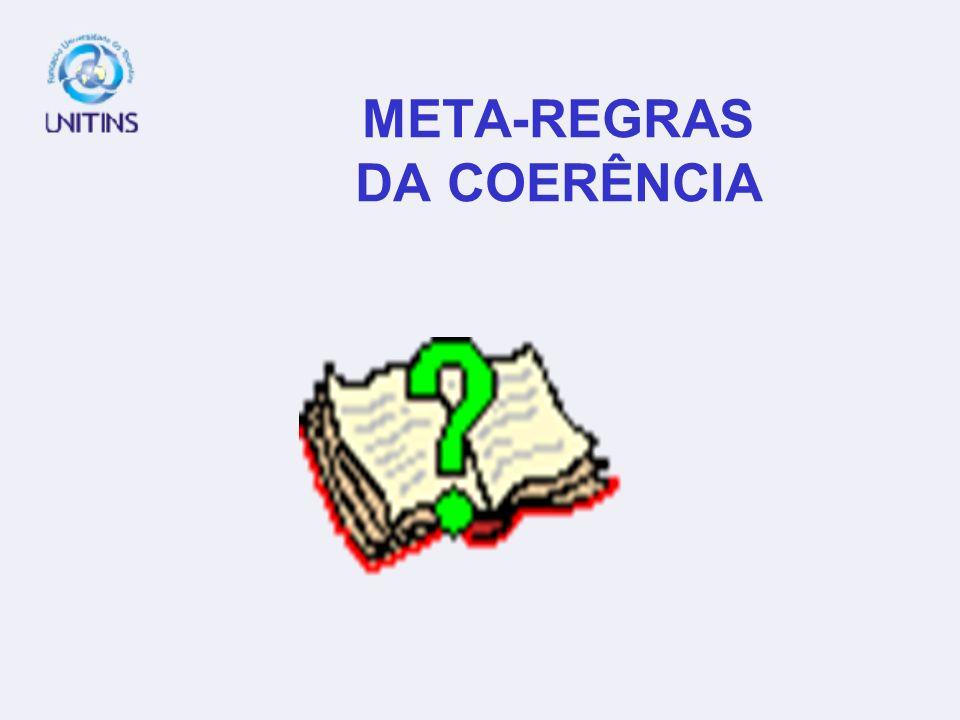 PROGRESSÃO DISCURSIVA E COERÊNCIA: CONDIÇÕES UNIDADE DE SENTIDO – UNIDADE TEMÁTICA NÃO CONTRADIÇÃO; VEROSSIMILHANÇA.
