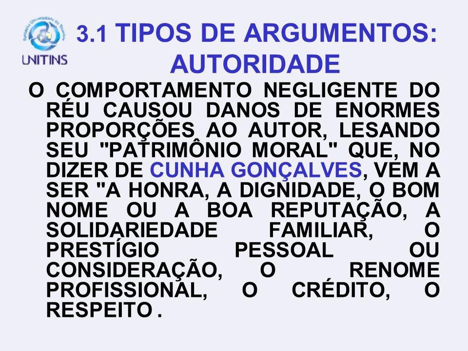 3. TIPOS DE ARGUMENTOS