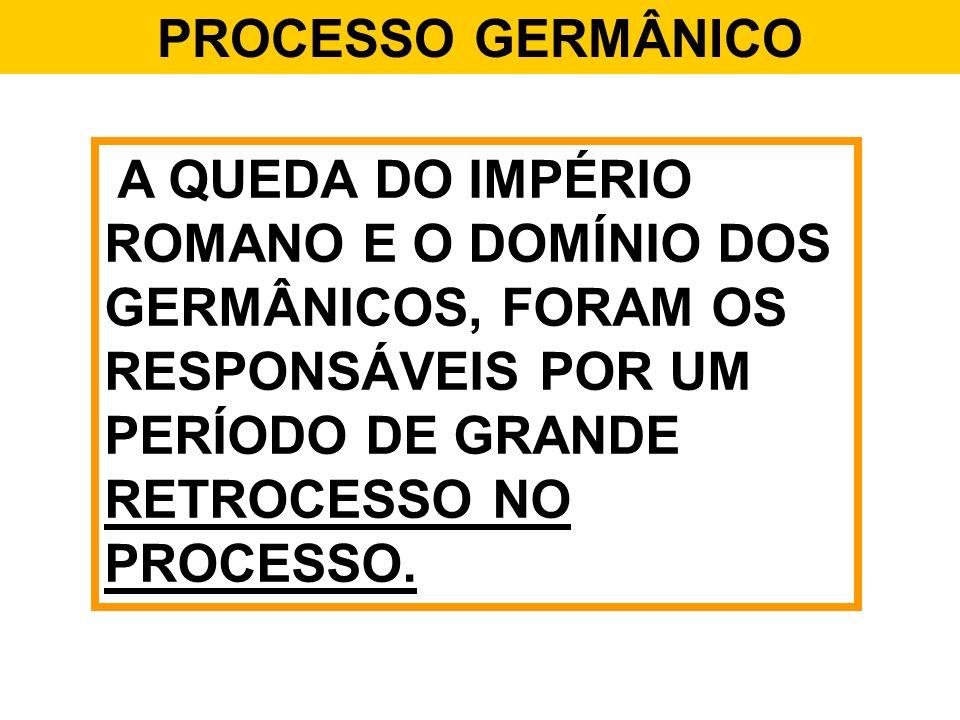 PROCESSO GERMÂNICO ROMANOS – PREZAVAM A JURISDIÇÃO.