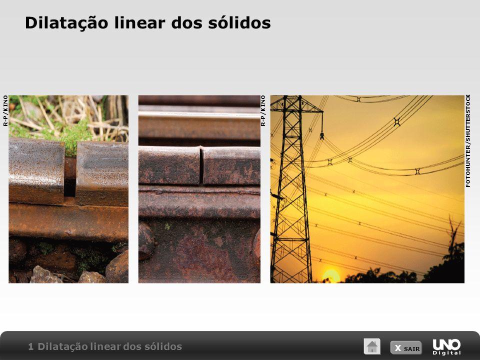 X SAIR Dilatação linear dos sólidos 1 Dilatação linear dos sólidos R-P/KINO FOTOHUNTER/SHUTTERSTOCK