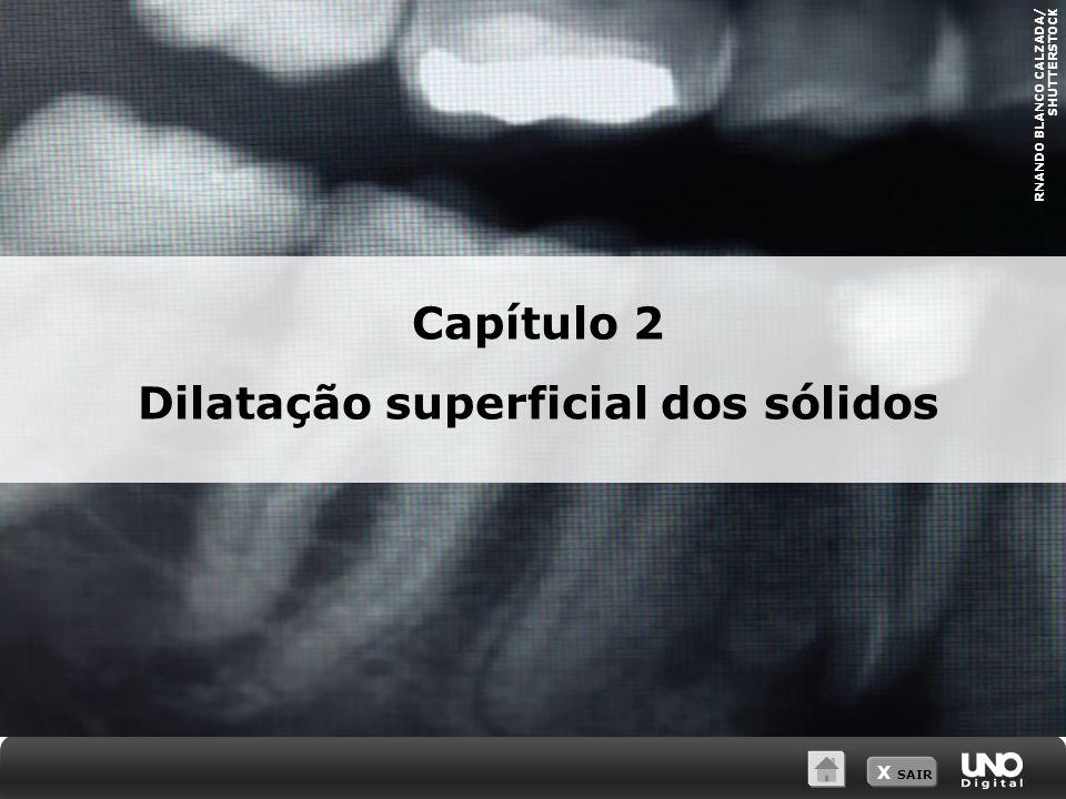 X SAIR RNANDO BLANCO CALZADA/ SHUTTERSTOCK Capítulo 2 Dilatação superficial dos sólidos