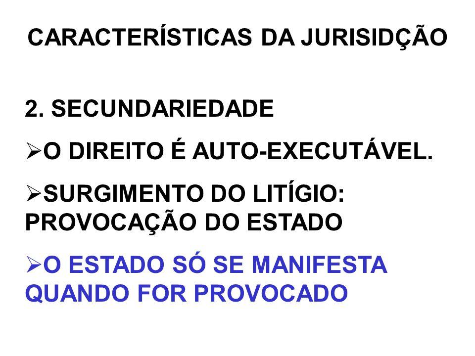 CARACTERÍSTICAS DA JURISIDÇÃO 3.