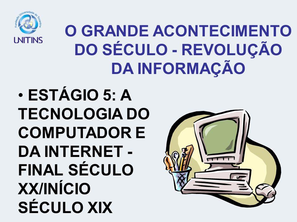 ESTÁGIO 5: A TECNOLOGIA DO COMPUTADOR E DA INTERNET - FINAL SÉCULO XX/INÍCIO SÉCULO XIX
