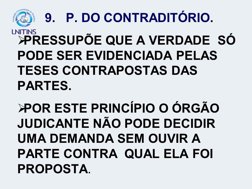 10.P. DA AMPLA DEFESA. PREVISTO NO ART.