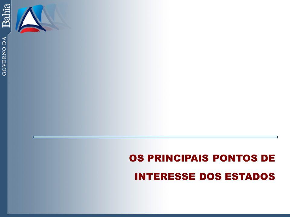 OS PRINCIPAIS PONTOS DE INTERESSE DOS ESTADOS