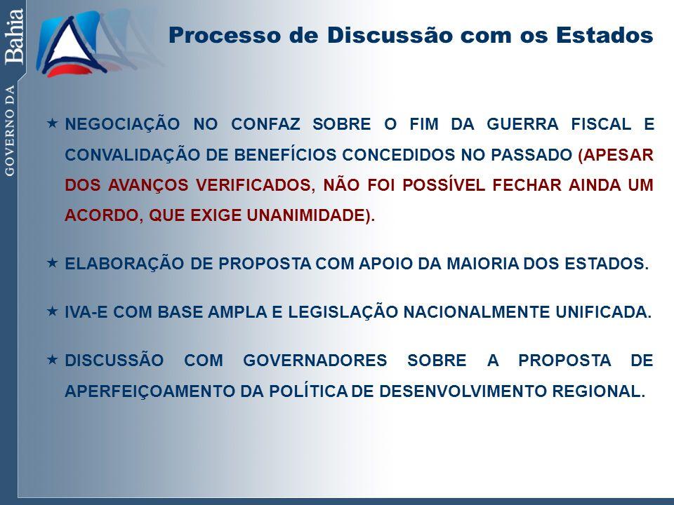 Processo de Discussão com os Estados NEGOCIAÇÃO NO CONFAZ SOBRE O FIM DA GUERRA FISCAL E CONVALIDAÇÃO DE BENEFÍCIOS CONCEDIDOS NO PASSADO (APESAR DOS