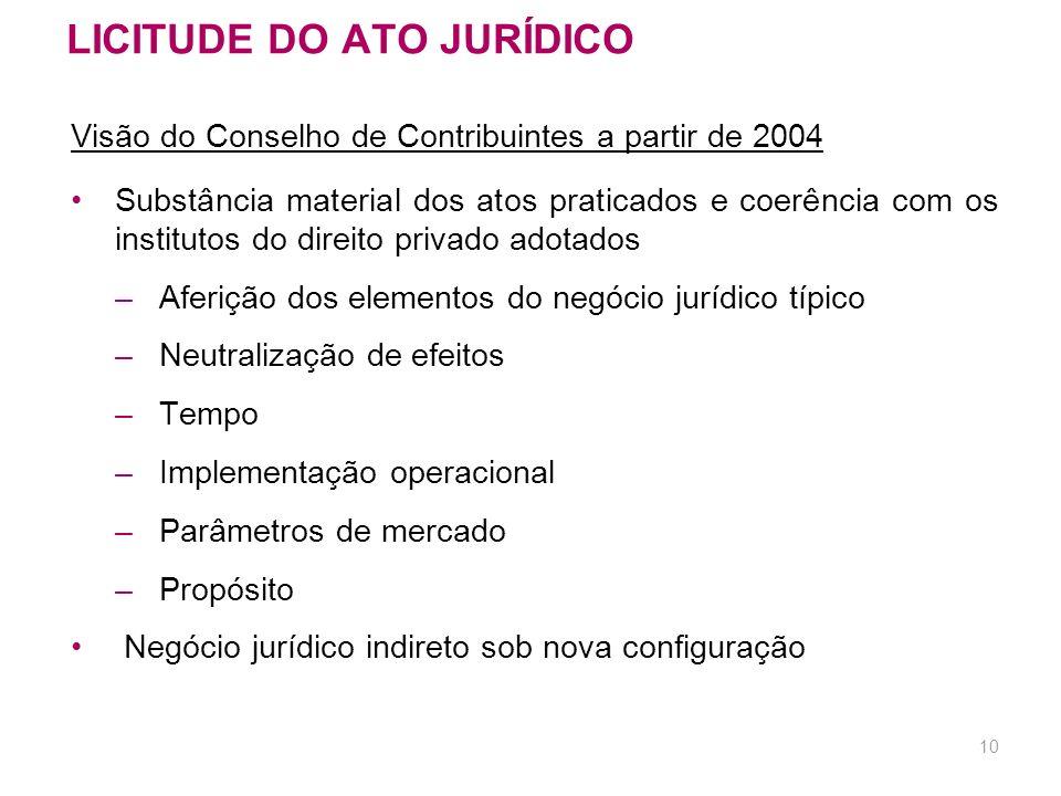 9 JULGADOS DO 1º CONSELHO DE CONTRIBUINTES Visão até 2003 (cont.) IRPF – GANHO DE CAPITAL – SIMULAÇÃO. Para que se possa caracterizar a simulação, em