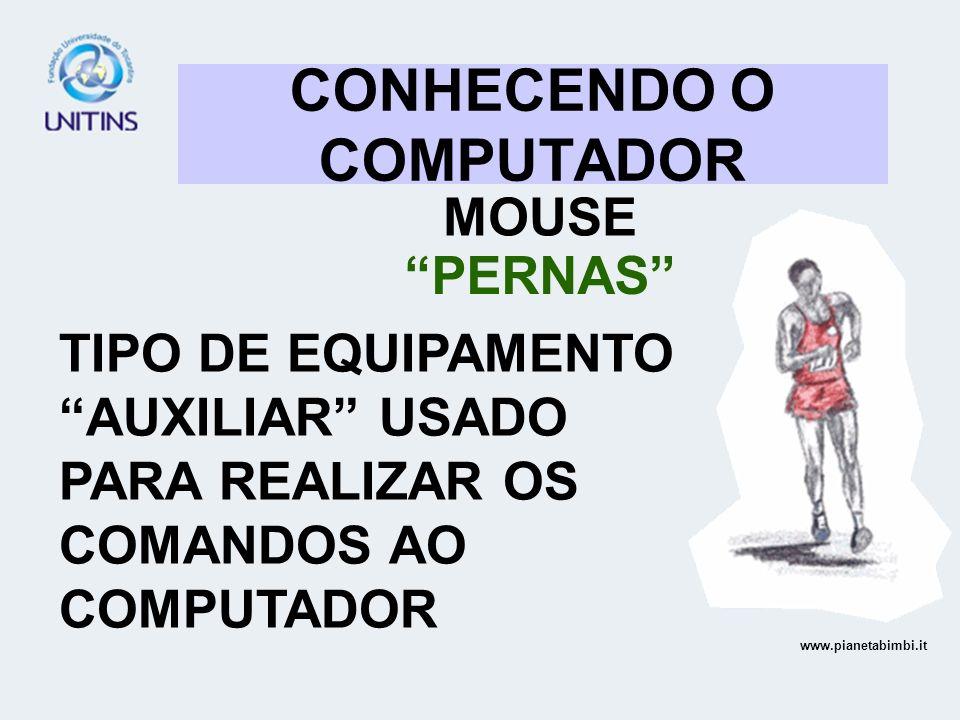 CONHECENDO O COMPUTADOR MOUSE PERNAS TIPO DE EQUIPAMENTO AUXILIAR USADO PARA REALIZAR OS COMANDOS AO COMPUTADOR www.pianetabimbi.it
