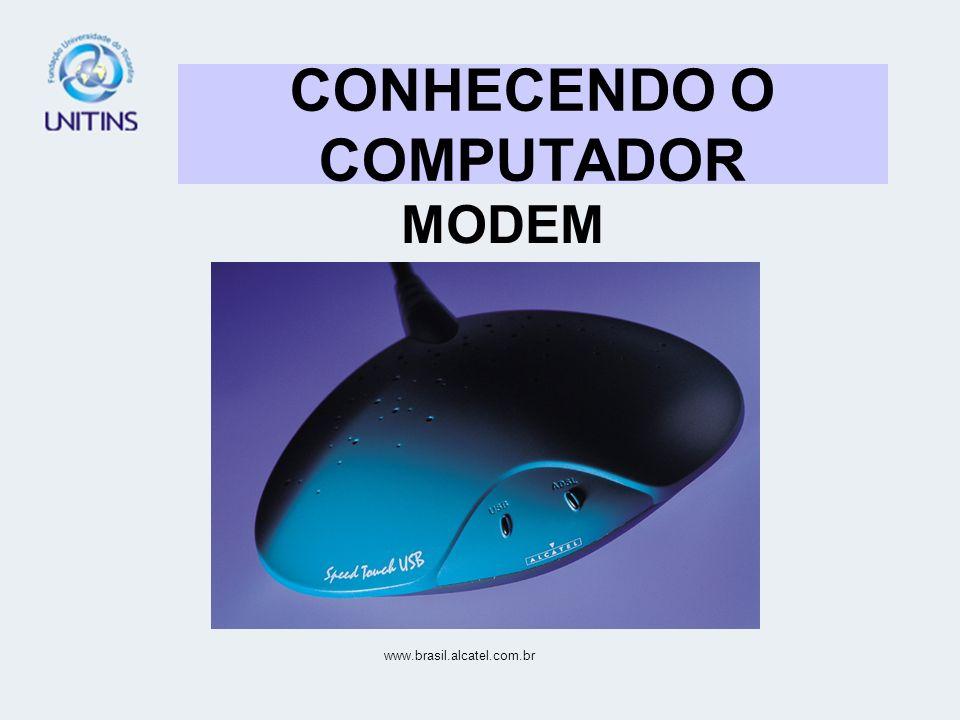 CONHECENDO O COMPUTADOR MODEM www.brasil.alcatel.com.br