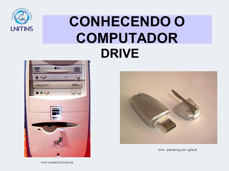 CONHECENDO O COMPUTADOR DRIVE www. panda.bg.univ.gda.pl www.usuarios.lycos.es