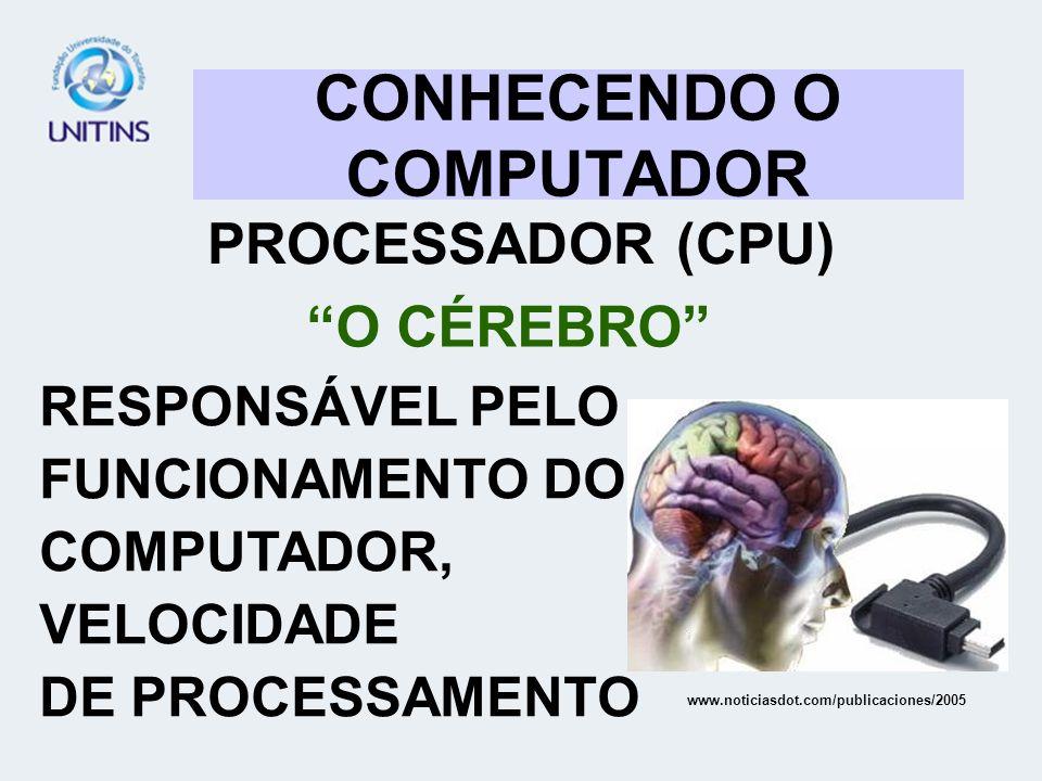 CONHECENDO O COMPUTADOR PROCESSADOR (CPU) O CÉREBRO RESPONSÁVEL PELO FUNCIONAMENTO DO COMPUTADOR, VELOCIDADE DE PROCESSAMENTO www.noticiasdot.com/publ