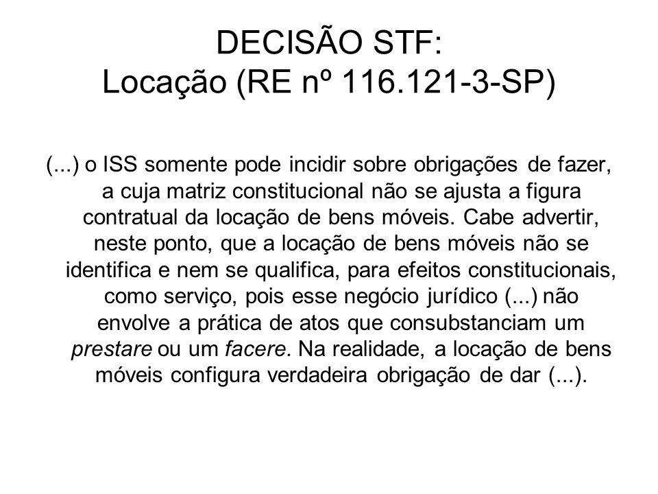 IMPORTAÇÃO DE SERVIÇOS Lei Complementar nº 116/03 Art.
