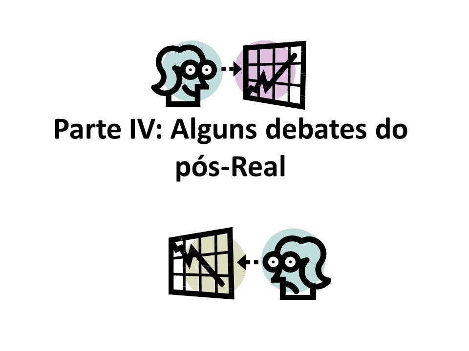 Parte IV: Alguns debates do pós-Real