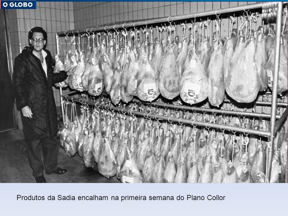Prateleiras vazias nos supermercados, em fevereiro de 1991.