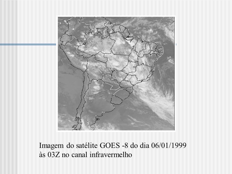 Imagem do satélite GOES -8 do dia 06/01/1999 às 03Z no canal infravermelho