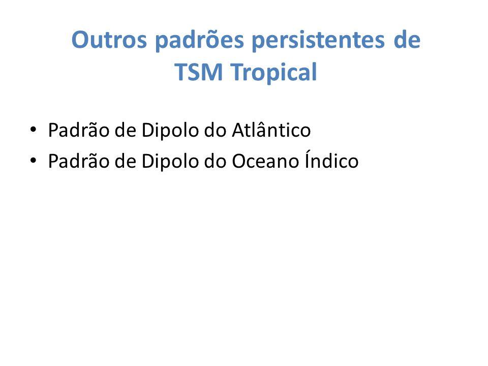 Outros padrões persistentes de TSM Tropical Padrão de Dipolo do Atlântico Padrão de Dipolo do Oceano Índico