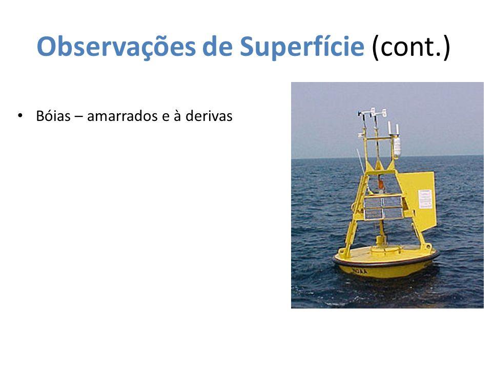 Observações de Superfície (cont.) Bóias – amarrados e à derivas