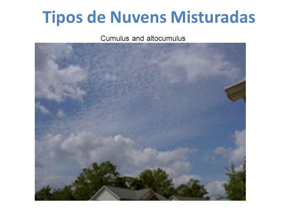 Tipos de Nuvens Misturadas Cumulus and altocumulus
