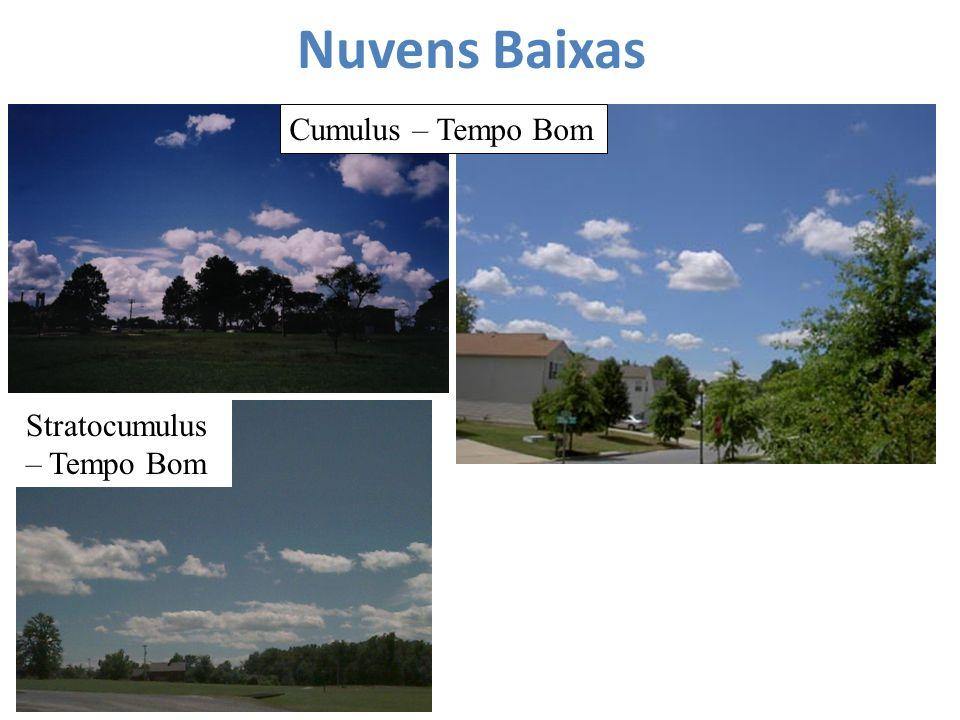 Nuvens Baixas Cumulus – Tempo Bom Stratocumulus – Tempo Bom