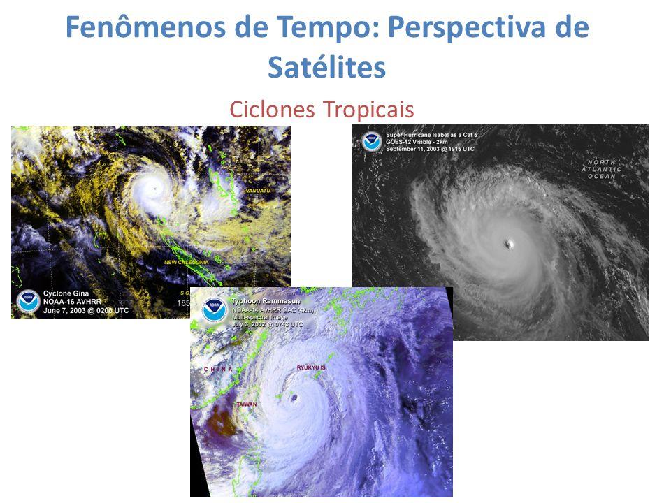 Fenômenos de Tempo: Perspectiva de Satélites Ciclones Tropicais