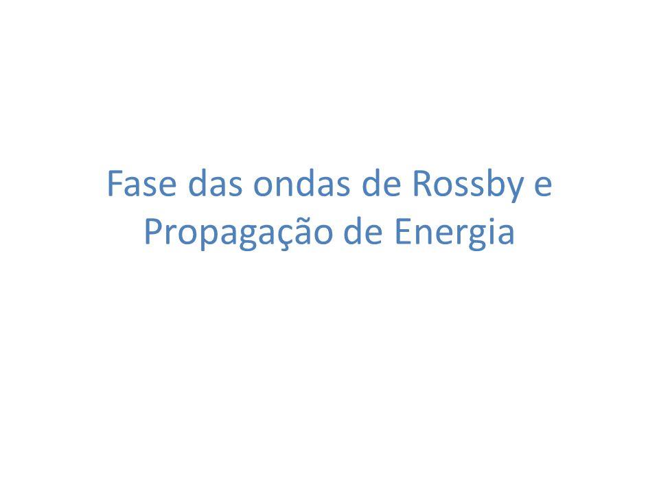 Fase das ondas de Rossby e Propagação de Energia