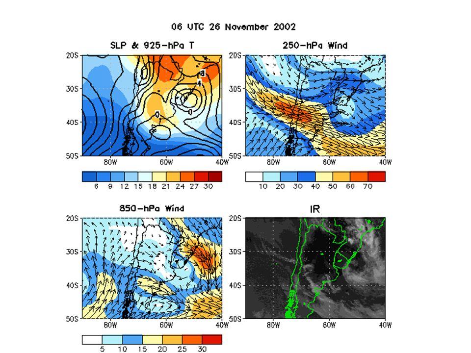 Um cavado forte no ar superior, e uma frente fria forte na superficie 23-24 de novembro de 2005: